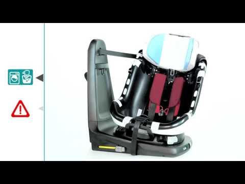Maxi-Cosi AxissFix Plus | как снять чехол и ремни автокресла