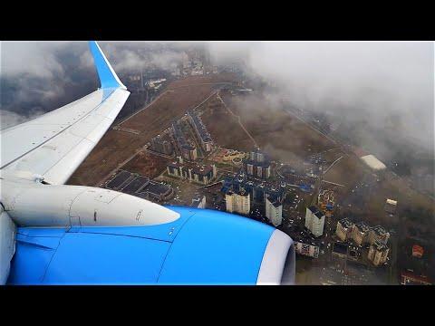 Посадка во Внуково Boeing 737-800 Победа