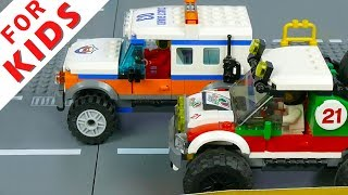 Lego Cars Racing . Lego Stop Motion Animation