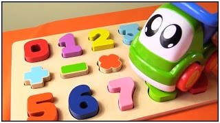 Children's Toys Videos: Baby Truck & the Jigsaw Puzzle - Learn Numbers 1-9 (игрушки видео)