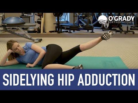 Sidelying Hip Adduction | O'Grady Orthopaedics