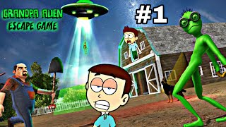 Scary Green Grandpa Alien Android Game #1 | Shiva and Kanzo Gameplay