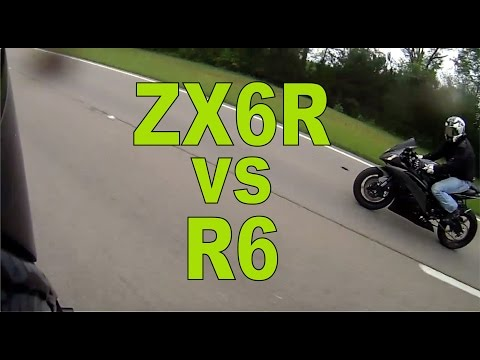 Kawasaki Ninja Zx6r Vs Yamaha R6 Highway Run как поздравить с днем