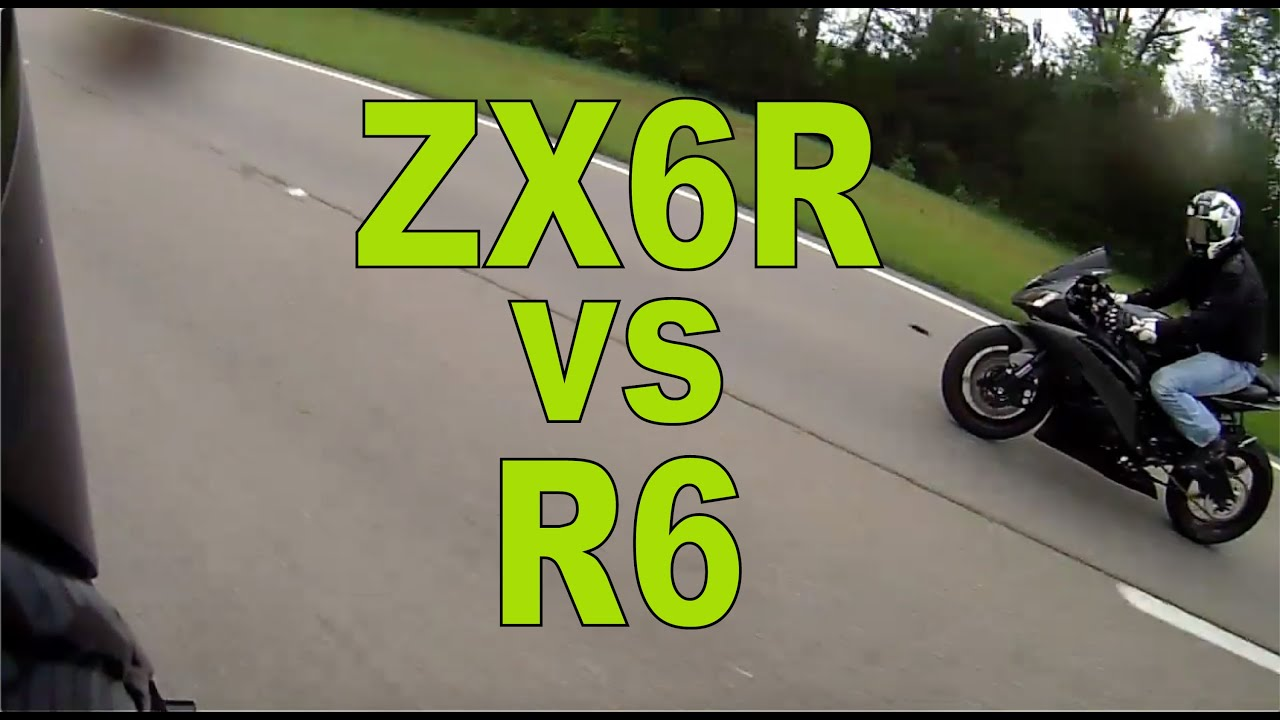 Kawasaki Ninja ZX6R vs Yamaha R6 Highway Run