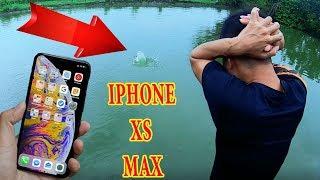 PHD | Thử Thách Ném Iphone Xs Max Xuống Ao | Unboxing