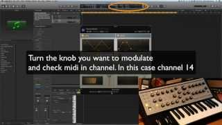 Logic Pro X: How to modulate external synth using midi FX