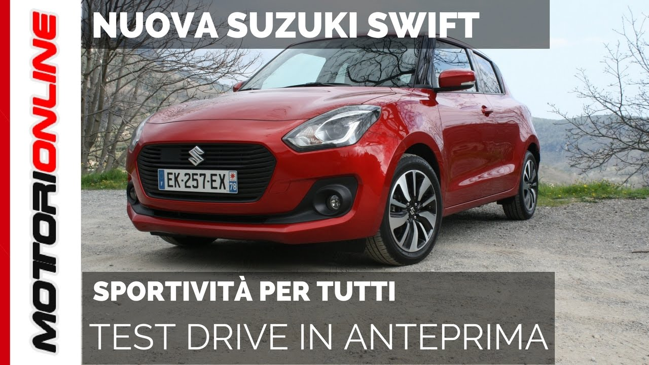 nuova suzuki swift 2017 test drive in anteprima youtube. Black Bedroom Furniture Sets. Home Design Ideas