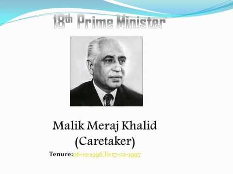 list of prime ministers of pakistan pdf