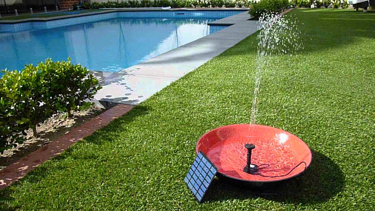 Solar powered water fountain pond pump kit youtube for Solar water pump pond