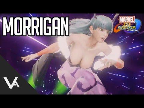 Marvel Vs Capcom Infinite - Morrigan And Captain America Reveal!