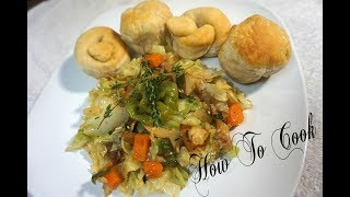 Jamaican Cabbage and CODFISH | SALT FISH RECIPE-HOW TO COOK