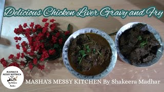 Tasty Chicken Liver Gravy and Liver Fry in English