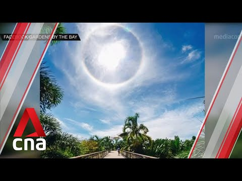 Sun halo seen at some places in Singapore