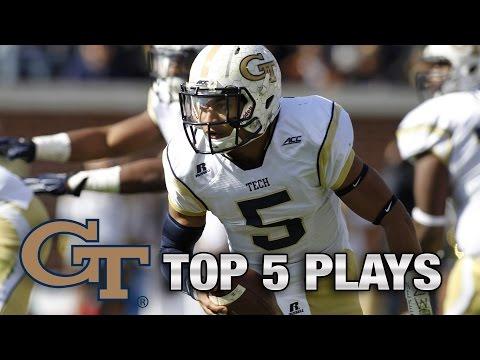 Georgia Tech QB Justin Thomas' Top 5 Plays | ACC Now