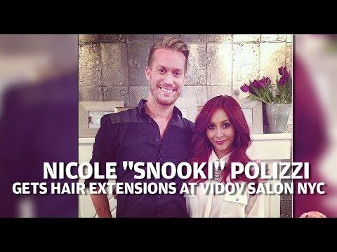 Snooki Behind The Scenes Hair Extensions At Vidov Salon NYC
