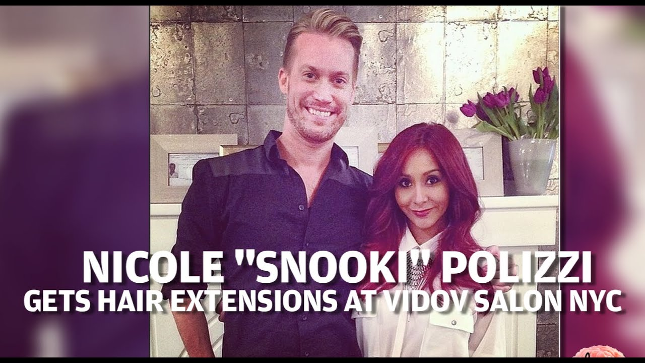 Snooki Behind The Scenes Hair Extensions At Vidov Salon Nyc Youtube