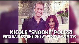 Snooki Behind The Scenes Hair Extensions At Vidov Salon NYC
