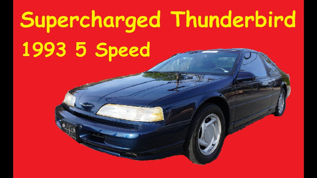 small resolution of 1993 ford thunderbird sc super coupe t bird exterior review video supercharged