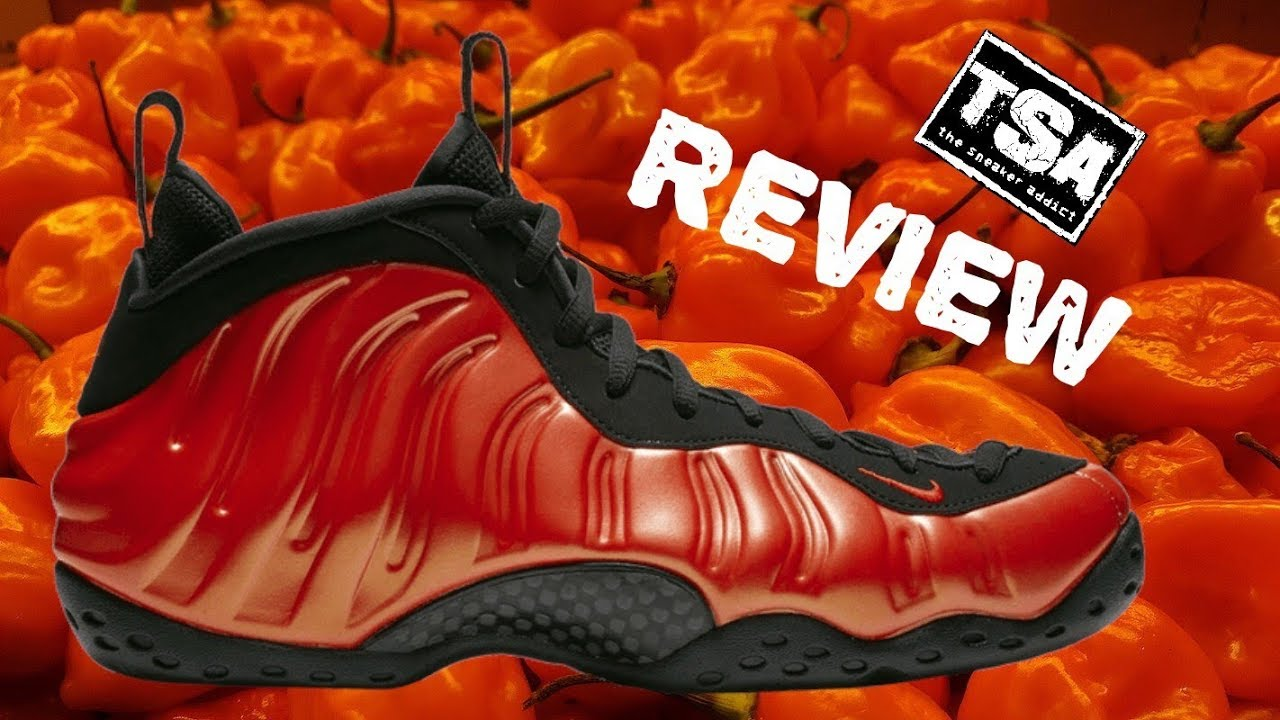 new product b7539 ba61c NIKE AIR FOAMPOSITE ONE HABANERO RED SNEAKER REVIEW  SNEAKERHEAD