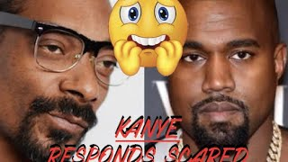 Kanye West REACTS RESPONDS to Snoop Dogg Dissing Him saying Kim allegedly was WITH DRAKE 'KeKe'
