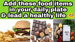 Healthy diet plan | foods to add in ...