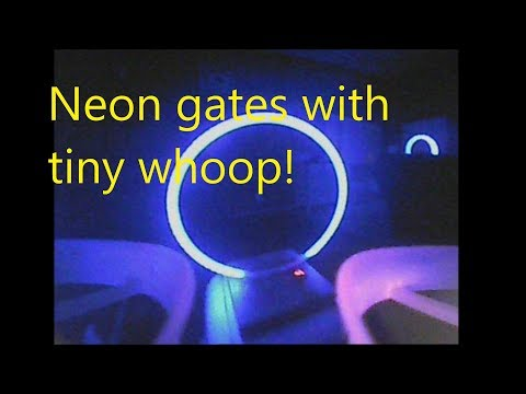 Tiny Whoop At Dark With Neon Gates! - Neon FPV