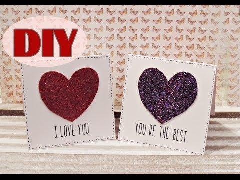 Valentinstagskarten Selber Basteln #2   Last Minute Valentineu0027s Day Cards    DIY