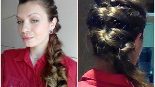 Объемная коса на выпускной, коса из резинок by AnaLisboa