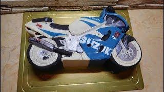 як зробити торт у вигляді мотоцикла