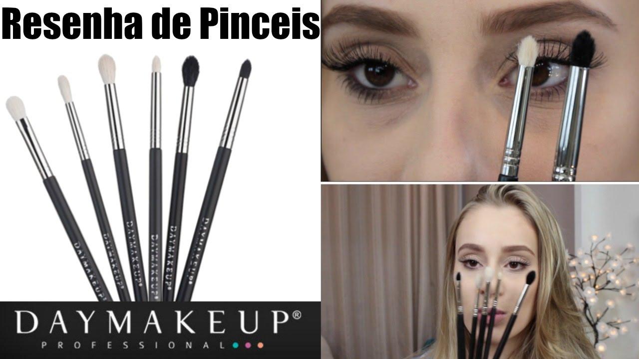 Pincéis para Olhos de Esfumar DAY MAKEUP   Resenha - YouTube 5bb6bb5f48