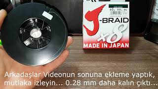 Ali Ekspress Daiwa J-Braid 8X  300 Metre İp Misina