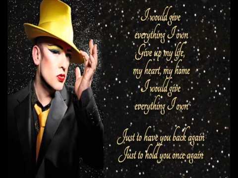 Boy George +  Everything I Own +  Lyrics/HQ