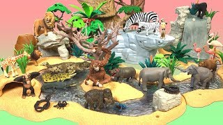 Animal's Drinking Fountain Set Schleich & Ania's Animals for children