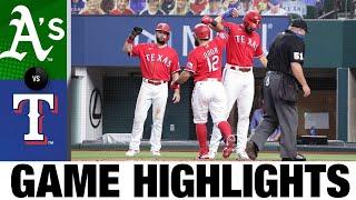 Rougned Odor, Ronald Guzmán Homer In Win | Athletics-Rangers Game Highlights 9/12/20
