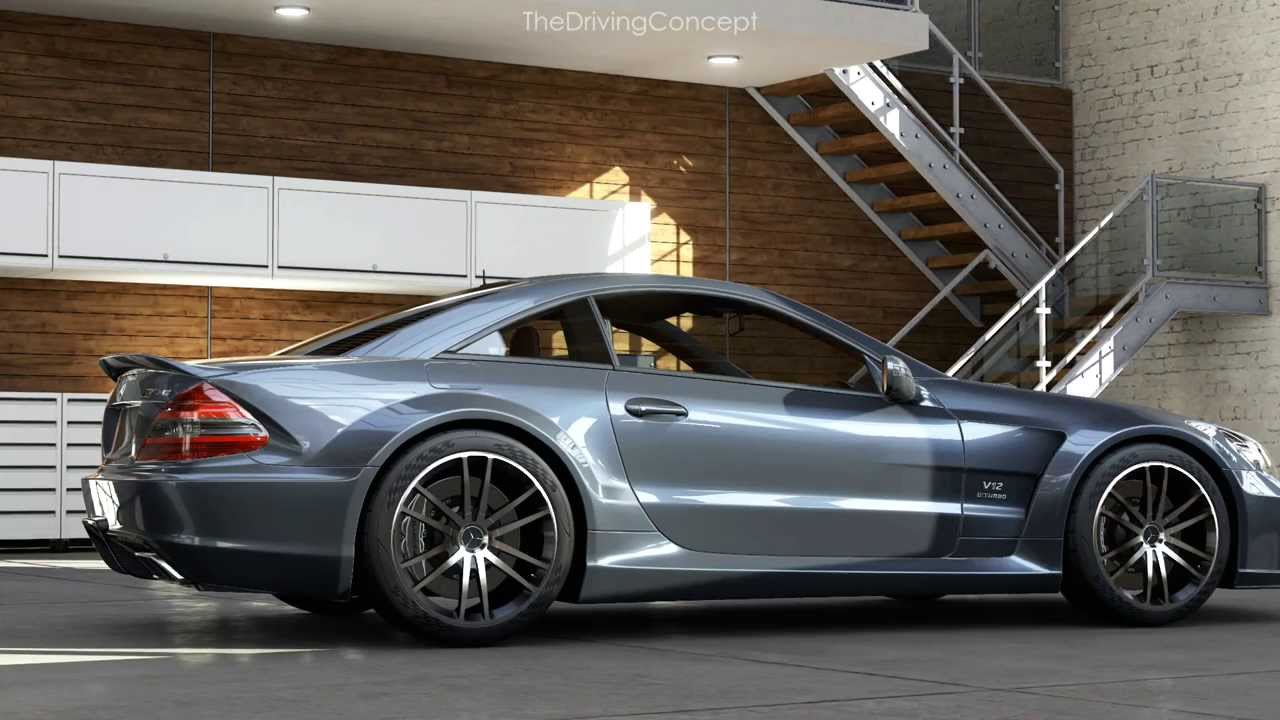 forza 5 mercedes benz sl 65 amg black series at road america east youtube. Black Bedroom Furniture Sets. Home Design Ideas