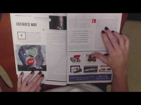 ASMR Whisper ~ Reading Automobile Magazine ~ Southern Accent