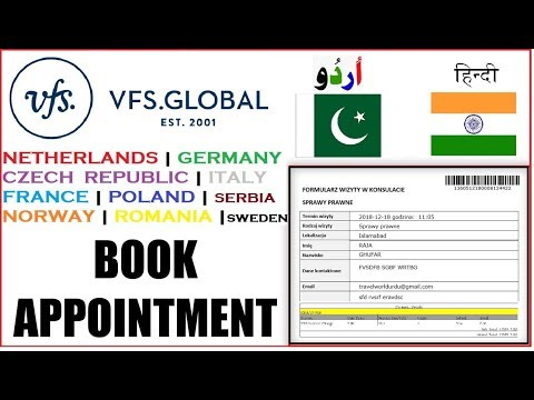 VFS Appointment 2020 PAKISTAN AND INDIA