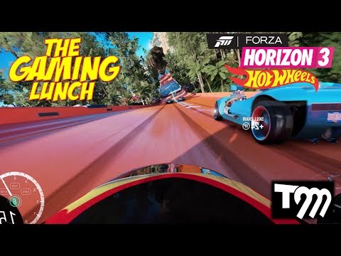 HOT WHEELS IN FORZA!! - The Gaming Lunch #1 (Forza Horizon 3 Hot Wheels)