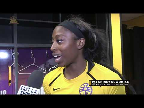 An Exclusive Post-Game Interview with Chiney Ogwumike | L.A. Sparks | WNBA