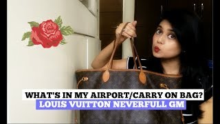 What's In My Carry-On Bag | Louis Vuitton Neverfull GM || Clothes and Creativity