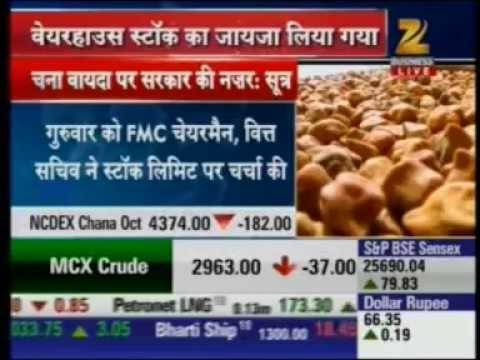 Mr. Jayant Nalawade, Chief Compliance, NCDEX, talking about Chana issue on Zee Business
