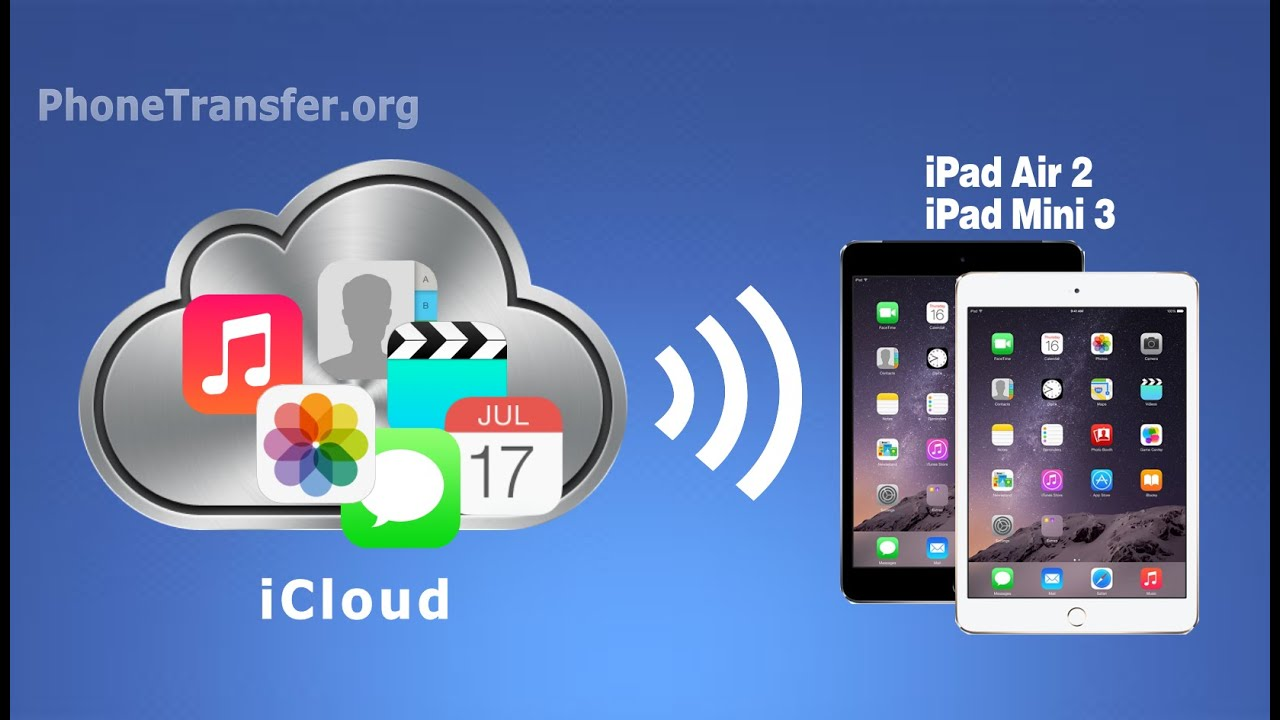 Icloud Files To Ipad How To Transfer All Data From Icloud Backup To Ipad Air 2 1 Ipad Pro Youtube