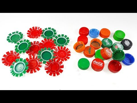 waste plastic bottle caps craft idea | best out of waste | Diy plastic bottle caps reuse idea