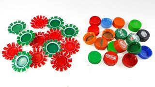 waste plastic bottle caps craft idea | best out of waste | Diy plastic bottle caps reuse idea
