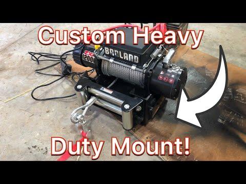 Badland Winch 12000 lb. Custom Mount And Test Pull