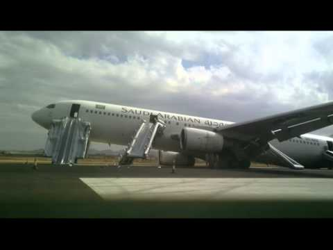 Emergency Landing, Boeing 767-300 Saudi Arabia Air