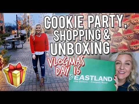 VLOGMAS DAY 16: COOKIE PARTY, SHOPPING & UNBOXING (EASTLAND SHOES) || Kellyprepster