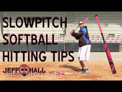 Jeff Hall Softball: Hitting Tips - Grip, Swing, and Follow-through