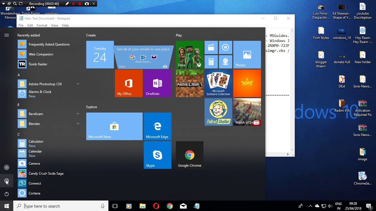 activate all versions of windows 10