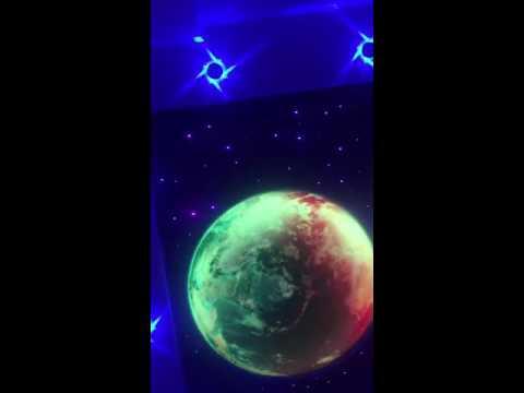 Звездное небо с подсветкой планет